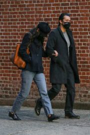 Katie Holmes and Emilio Vitolo Jr Out Shopping Flowers in New York 11/25/2020 3