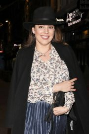 Kelly Brook in Long Coat with Skirt Arrives at Global Studios in London 11/24/2020 4