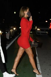 Larsa Pippen flashes her legs in a Tight Red Dress Night Out in Miami 12/04/2020 7