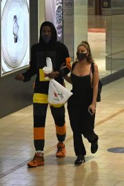 Larsa Pippen with NBA Star Malik Beasley Out at a Mall in Miami 11/23/2020 7