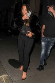 Lauren Goodger with her friend Night Out in London 12/04/2020 8