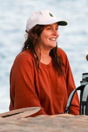 Leighton Meester in Reddish Brown Outfit Out at a Park in Los Angeles 11/23/2020 11
