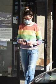 Michelle Monaghan in Colorful Sweater Out and About in Los Angeles 12/02/2020 1