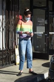 Michelle Monaghan in Colorful Sweater Out and About in Los Angeles 12/02/2020 2