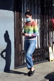 Michelle Monaghan in Colorful Sweater Out and About in Los Angeles 12/02/2020 5