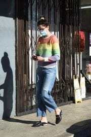Michelle Monaghan in Colorful Sweater Out and About in Los Angeles 12/02/2020 6