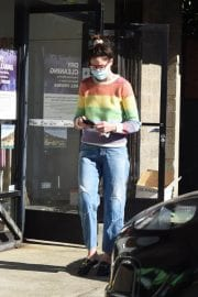 Michelle Monaghan in Colorful Sweater Out and About in Los Angeles 12/02/2020 8