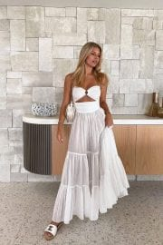 Natasha Oakley in Beautiful White Transparney Outfit - Instagram Photos 12/04/2020 1