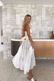 Natasha Oakley in Beautiful White Transparney Outfit - Instagram Photos 12/04/2020 2