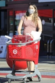 Pregnant April Love Geary shows off Baby Bump Shopping at Target in Los Angeles 12/04/2020 1