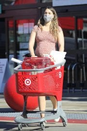 Pregnant April Love Geary shows off Baby Bump Shopping at Target in Los Angeles 12/04/2020 2