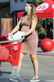 Pregnant April Love Geary shows off Baby Bump Shopping at Target in Los Angeles 12/04/2020 4