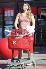 Pregnant April Love Geary shows off Baby Bump Shopping at Target in Los Angeles 12/04/2020 13