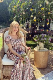 Pregnant Emma Roberts shows off Baby Bump in Floral Dress - Instagram Photos 10/28/2020 1