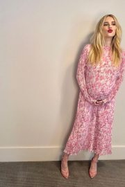 Pregnant Emma Roberts shows off Baby Bump in Floral Dress - Instagram Photos 10/28/2020 3