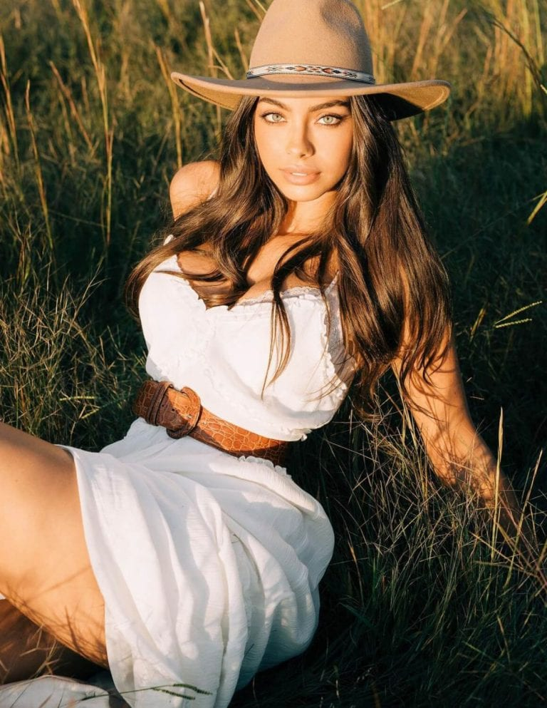 Priscilla Huggins Ortiz in White Dress Outdoor Photoshoot - Instagram Photos 04/12/2020 1