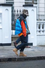 Rita Ora in Puffer Jacket with Brown Boots Out and About in London 11/25/2020 3