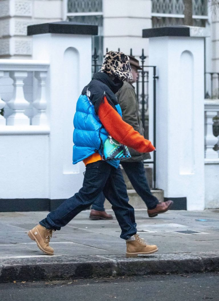 Rita Ora in Puffer Jacket with Brown Boots Out and About in London 11/25/2020 4