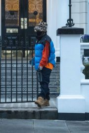 Rita Ora in Puffer Jacket with Brown Boots Out and About in London 11/25/2020 5