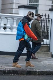 Rita Ora in Puffer Jacket with Brown Boots Out and About in London 11/25/2020 6