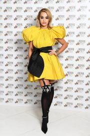 Rita Ora seen Stunning Yellow Dress at Prospero Tequila UK Launch in London 11/23/2020 10