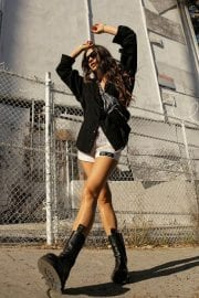 Shay Mitchell flashes her legs in Short Pants - Instagram Photos 12/05/2020 2