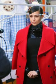 Sofia Carson Filming for Macy's Thanksgiving Day Parade 2020 in New York 11/24/2020 6