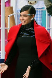 Sofia Carson Filming for Macy's Thanksgiving Day Parade 2020 in New York 11/24/2020 8
