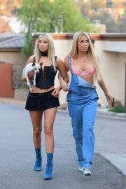 Tana Mongeau and Ashly Schwan as Paris and Nicole from The Simple Life in Los Angeles 10/28/2020 1