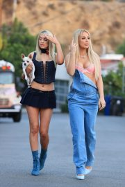 Tana Mongeau and Ashly Schwan as Paris and Nicole from The Simple Life in Los Angeles 10/28/2020 2