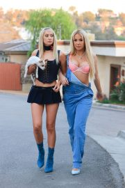 Tana Mongeau and Ashly Schwan as Paris and Nicole from The Simple Life in Los Angeles 10/28/2020 5