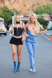Tana Mongeau and Ashly Schwan as Paris and Nicole from The Simple Life in Los Angeles 10/28/2020 6