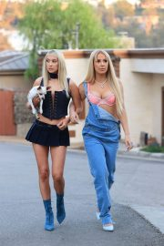 Tana Mongeau and Ashly Schwan as Paris and Nicole from The Simple Life in Los Angeles 10/28/2020 7