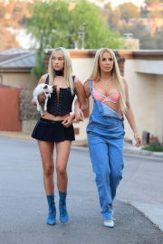Tana Mongeau and Ashly Schwan as Paris and Nicole from The Simple Life in Los Angeles 10/28/2020 9