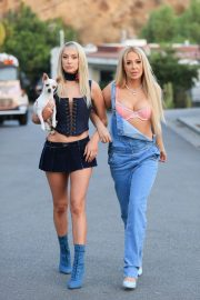 Tana Mongeau and Ashly Schwan as Paris and Nicole from The Simple Life in Los Angeles 10/28/2020 10