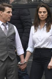 Tom Cruise and Hayley Atwell on the Set of Mission Impossible 7 in Rome 11/24/2020 1