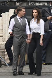 Tom Cruise and Hayley Atwell on the Set of Mission Impossible 7 in Rome 11/24/2020 2