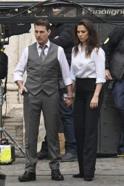 Tom Cruise and Hayley Atwell on the Set of Mission Impossible 7 in Rome 11/24/2020 3