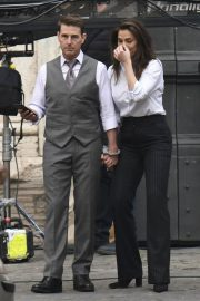 Tom Cruise and Hayley Atwell on the Set of Mission Impossible 7 in Rome 11/24/2020 4