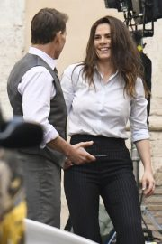 Tom Cruise and Hayley Atwell on the Set of Mission Impossible 7 in Rome 11/24/2020 9