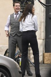 Tom Cruise and Hayley Atwell on the Set of Mission Impossible 7 in Rome 11/24/2020 10