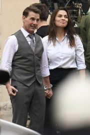 Tom Cruise and Hayley Atwell on the Set of Mission Impossible 7 in Rome 11/24/2020 11