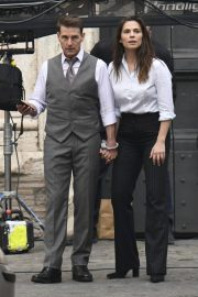 Tom Cruise and Hayley Atwell on the Set of Mission Impossible 7 in Rome 11/24/2020 12