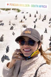 Victoria Justice Penguin Boulders Beach in South Africa 12/05/2020 1