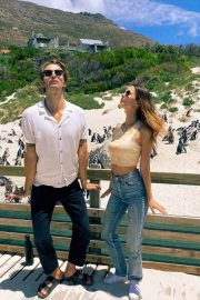 Victoria Justice Penguin Boulders Beach in South Africa 12/05/2020 3