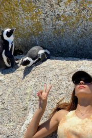 Victoria Justice Penguin Boulders Beach in South Africa 12/05/2020 8