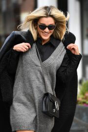 Ashley Roberts After Leaves Heart Radio seen in Long Blue Boots in London 02/12/2021 3