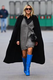 Ashley Roberts After Leaves Heart Radio seen in Long Blue Boots in London 02/12/2021 5