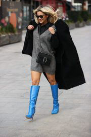 Ashley Roberts After Leaves Heart Radio seen in Long Blue Boots in London 02/12/2021 6