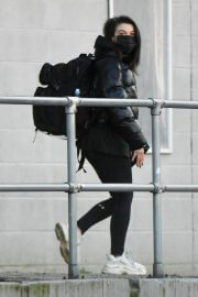 Faye Brookes Leaves Training Session in Manchester 02/10/2021 1